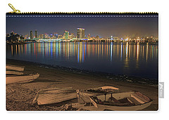Carry-all Pouch featuring the photograph San Diego Harbor Lights by Gary Holmes