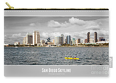 San Diego Skyline - Poster Style Carry-all Pouch