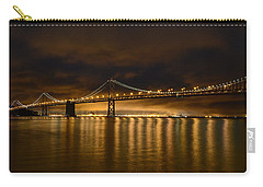 San Francisco - Bay Bridge At Night Carry-all Pouch