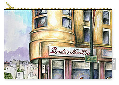 San Francisco North Beach - Watercolor Art Painting Carry-all Pouch