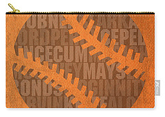 San Francisco Giants Baseball Typography Famous Player Names On Canvas Carry-all Pouch by Design Turnpike