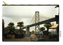 San Francisco Oakland Bay Bridge Carry-all Pouch by Michelle Calkins