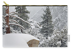 Carry-all Pouch featuring the photograph San Jacinto Winter Wilderness by Kyle Hanson