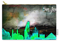 San Jose Skyline Watercolor Carry-all Pouch