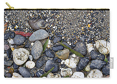 Sand And Rocks On Beach Carry-all Pouch