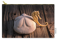 Sand Dollar And Seahorse Carry-all Pouch by Garry Gay