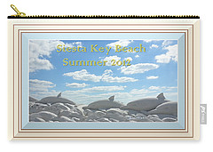 Sand Dolphins - Digitally Framed Carry-all Pouch by Susan Molnar