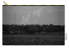 Sand Hill Cranes With Nebraska Thunderstorm Carry-all Pouch