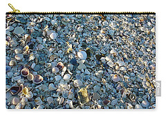 Carry-all Pouch featuring the photograph Sand Key Shells by David Nicholls