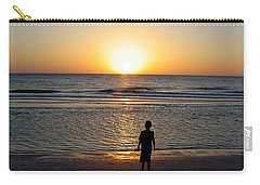 Carry-all Pouch featuring the photograph Sand Key Sunset by David Nicholls