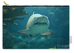 Carry-all Pouch featuring the photograph Sand Shark by Robert Meanor
