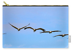 Sandhill Crane Flight Pattern Carry-all Pouch by Mike Dawson