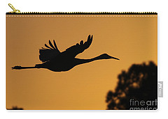 Sandhill Crane In Flight Carry-all Pouch