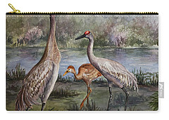 Sandhill Cranes On Alert Carry-all Pouch