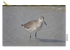 Carry-all Pouch featuring the photograph Sandpiper by Christiane Schulze Art And Photography