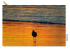 Sandpiper In Golden Dawn Surf Carry-all Pouch