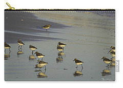 Sandpiper Sunset Reflection Carry-all Pouch by Susan Molnar
