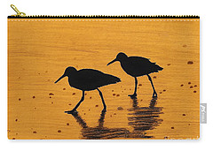 Sandpipers - At - Sunrise Carry-all Pouch by D Hackett