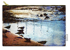 Sandpipers At The Shore Carry-all Pouch by Janine Riley