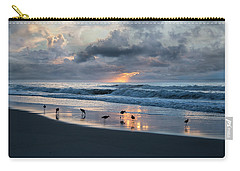 Sandpipers In Paradise Carry-all Pouch by Betsy Knapp