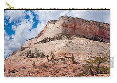 Carry-all Pouch featuring the photograph Sandstone Mountain by John M Bailey
