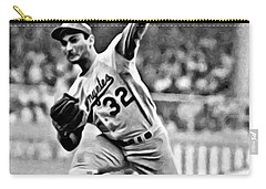 Sandy Koufax Throwing The Ball Carry-all Pouch