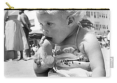 Sandy Toes For Lunch Carry-all Pouch by Underwood Archives