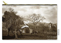 Santa Barbara Mission California Circa 1890 Carry-all Pouch
