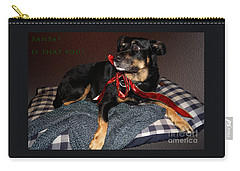 Carry-all Pouch featuring the photograph Santa? by Cassandra Buckley