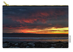 Carry-all Pouch featuring the photograph Santa Cruz Rocks by Michael Gordon