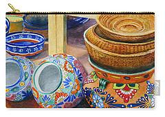 Santa Fe Hold 'em Pots And Baskets Carry-all Pouch by Karen Fleschler