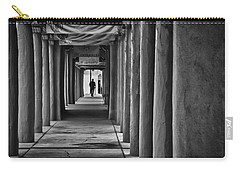 Carry-all Pouch featuring the photograph Santa Fe New Mexico Walkway by Ron White