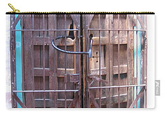 Carry-all Pouch featuring the photograph Santa Fe Old Door by Dora Sofia Caputo Photographic Art and Design