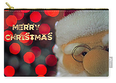 Santa  Carry-all Pouch by Spikey Mouse Photography