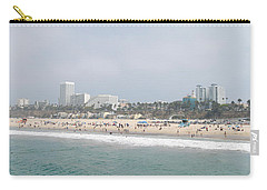 Santa Monica Beach, Santa Monica, Los Carry-all Pouch by Panoramic Images
