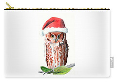 Santa Owl Carry-all Pouch