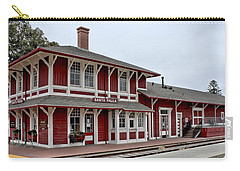 Carry-all Pouch featuring the photograph Santa Paula Station by Michael Gordon