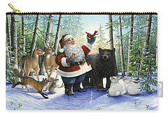 Santa's Christmas Morning Carry-all Pouch