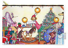 Santa's Giftwrapper Carry-all Pouch by Katherine Miller