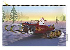 Santa's New Sleigh Carry-all Pouch by Ken Morris