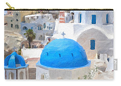 Santorini Oil Painting Carry-all Pouch