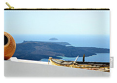 Santorini Rooftop Carry-all Pouch by Corinne Rhode