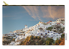 Santorini Windmill At Dusk Carry-all Pouch