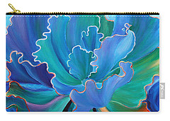 Carry-all Pouch featuring the painting Sapphire Solitaire by Sandi Whetzel