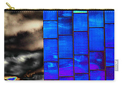 Carry-all Pouch featuring the photograph Sapphire Sunset by Christiane Hellner-OBrien