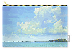 Sarasota Skyline From Sarasota Bay Carry-all Pouch