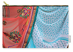 Carry-all Pouch featuring the photograph Saree In The Market by E Faithe Lester