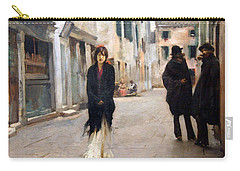 Sargent's Street In Venice Carry-all Pouch