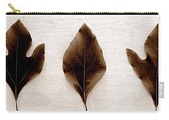 Sassafras Leaves In Sepia Carry-all Pouch