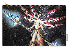 Carry-all Pouch featuring the painting Satari God Of War And Battles by Shawn Dall